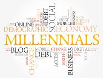 Millennials Word Cloud Royalty Free Stock Image