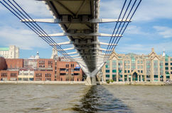 The Millennium Bridge Royalty Free Stock Photos