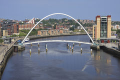 Millennium Bridge & Byker Wall Stock Image