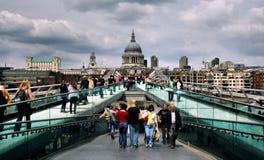 Millennium Bridge in London Stock Image