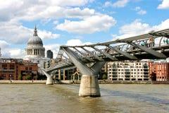 Millennium bridge London Royalty Free Stock Photos