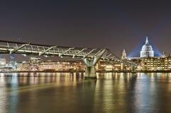 Millennium Bridge at London, England Royalty Free Stock Photos