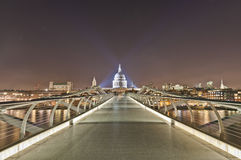 Millennium Bridge at London, England. Millennium Bridge across thames river at London, England Royalty Free Stock Image