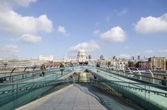 Millennium bridge. In london, england Stock Image