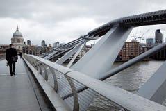 Millennium Bridge at London Stock Photo