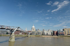 Millennium Bridge, London Stock Photo