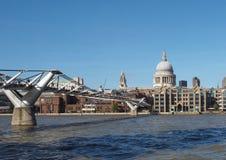 Millennium Bridge in London Stock Photos