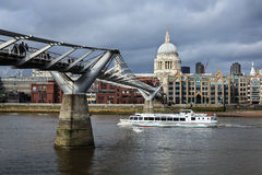 Millennium Bridge, London Royalty Free Stock Photography