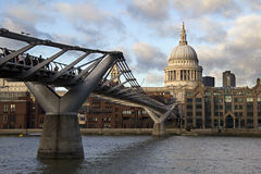 Millennium Bridge in London, UK Royalty Free Stock Image