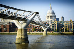 Millennium Bridge London Stock Photography