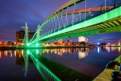 Millennium Bridge Manchester England Stock Images