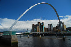 Millennium Bridge. Newcastle upon Tyne, UK. Millennium brigde between Newcastle and Gateshead. England, Great Britain stock photo