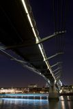 Millennium Bridge at Night Royalty Free Stock Image