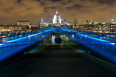 Millennium Bridge at Night Royalty Free Stock Photography
