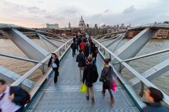Millennium Bridge over the Thames Royalty Free Stock Photo
