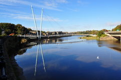 Millennium Bridge, River Lune Stock Images