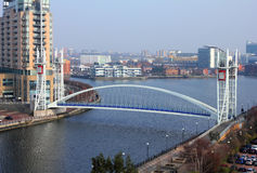 Millennium Bridge at Salford Quays Royalty Free Stock Images