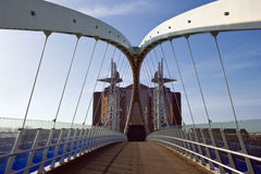 Millennium Bridge - Salford Quays - England Royalty Free Stock Photo