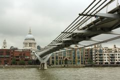 Millennium Bridge, St.Paul's Cathedral Stock Photo