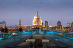 Millennium bridge and St. Paul's cathedral, London Stock Photography