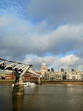 Millennium Bridge and St.Paul's Cathedral Royalty Free Stock Images