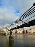 Millennium Bridge and St.Paul's Cathedral Stock Image