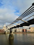 Millennium Bridge and St.Paul's Cathedral Royalty Free Stock Photo