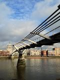 Millennium Bridge and St.Paul's Cathedral Royalty Free Stock Image