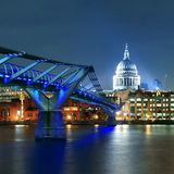 Millennium Bridge and St Pauls Stock Photography