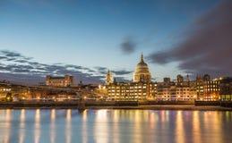 Millennium Bridge and St Pauls Royalty Free Stock Image