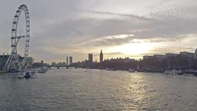 London Winter Time Lapse stock video footage