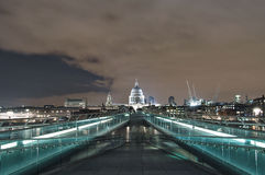 Millennium bridge view Royalty Free Stock Photo