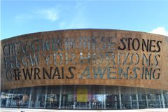 Millennium Centre, Cardiff bay. Wales Stock Photo
