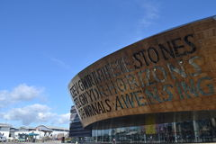 Millennium Centre, Wales, modern architectre Royalty Free Stock Photography
