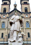 Millennium church statue Stock Photography