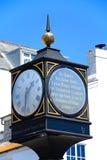 Millennium Clock, Lyme Regis. Stock Photo
