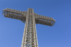 Millennium Cross on a top of the Vodno mountain hill above Skopj Royalty Free Stock Photo
