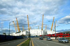 Millennium dome. Big Millennium dome arena in east London Royalty Free Stock Photography