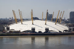 Millennium Dome, Greenwich, London. View across the River Thames of the landmark Millennium Dome arena in North Greenwich, London Stock Images