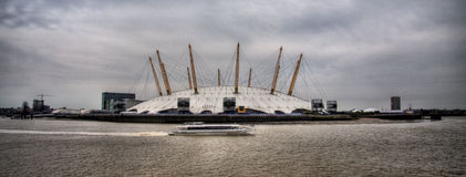 Millennium dome, London. Panoramic of O2 arena, London. Stock Photos