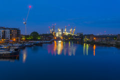 Millennium Dome at night, London, UK Stock Images