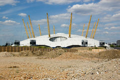Millennium Dome and rubble, Greenwich Royalty Free Stock Photography