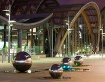 Millennium Gardens Sheffield. Millenium gardens sheffield at night showing floor lights Stock Images
