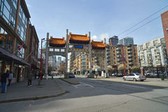 Millennium Gate in Vancouvers Chinatown,Canada. Stock Image