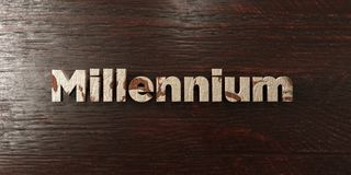 Millennium - grungy wooden headline on Maple  - 3D rendered royalty free stock image. This image can be used for an online website banner ad or a print Stock Photography