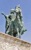 Millennium Memorial in Heroes Square, Budapest, Hungary. Royalty Free Stock Photos