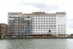 Millennium mills docklands london Royalty Free Stock Photography