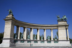 The millennium monument, budapest Royalty Free Stock Image