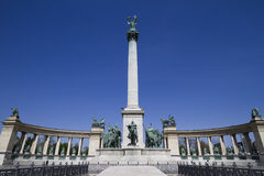 The millennium monument, budapest Royalty Free Stock Images