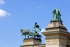 Millennium Monument in Budapest Stock Photos